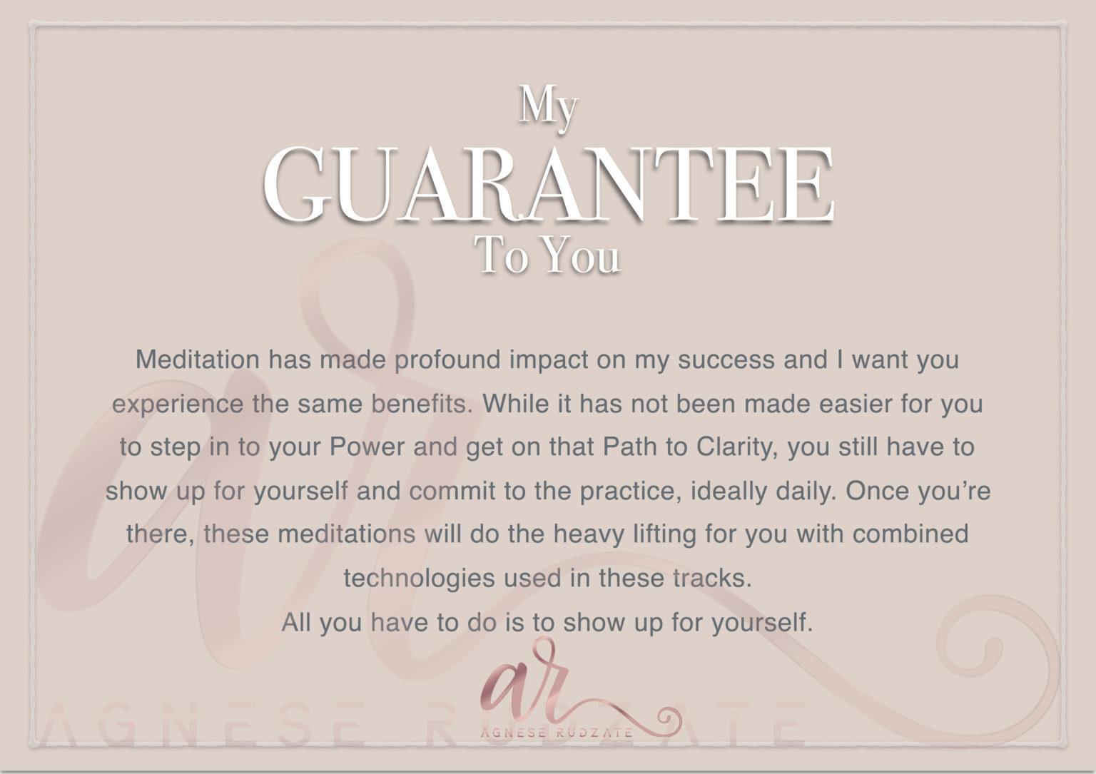 Path to Clarity Meditations Guarantee Agnese Rudzate Organizing