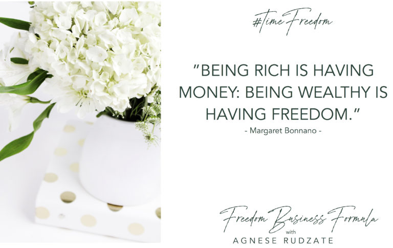 blog rich vs wealthy Agnese rudzate coaching online business